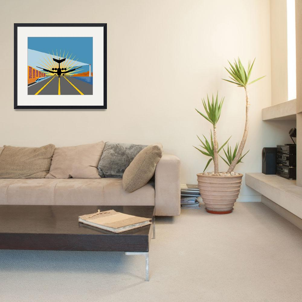 """""""commercial jet plane airliner taking off&quot  (2013) by patrimonio"""