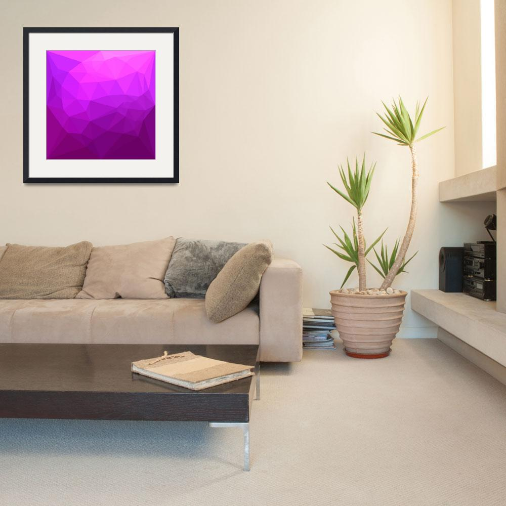 """""""Byzantine Purple Abstract Low Polygon Background&quot  (2017) by patrimonio"""