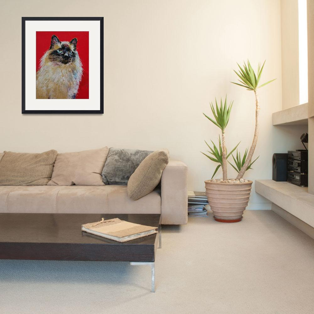 """""""Siamese Cat Portrait&quot  by creese"""