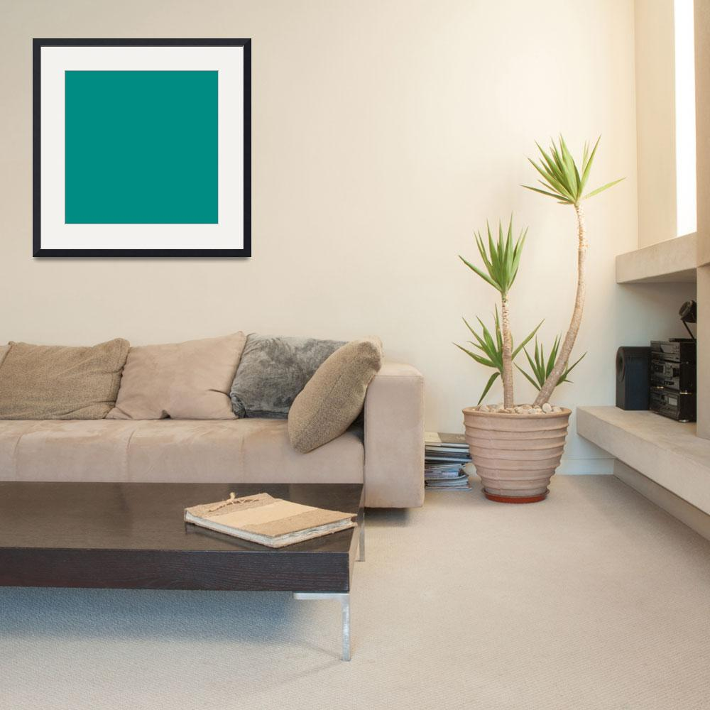 """""""Square PMS-327 HEX-008C82 Green&quot  (2010) by Ricardos"""