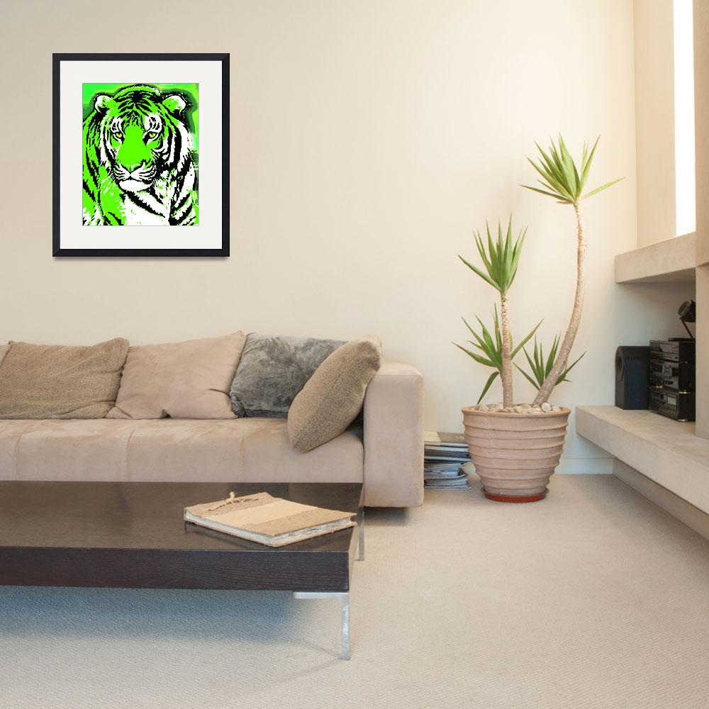 """TIGER-3 (LARGE) GREEN""  by thegriffinpassant"