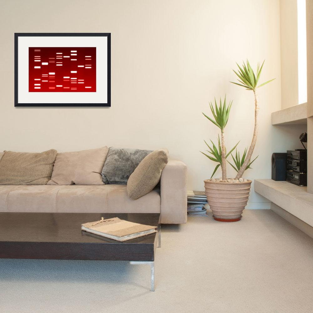 """DNA Art Red&quot  (2010) by ModernArtPrints"