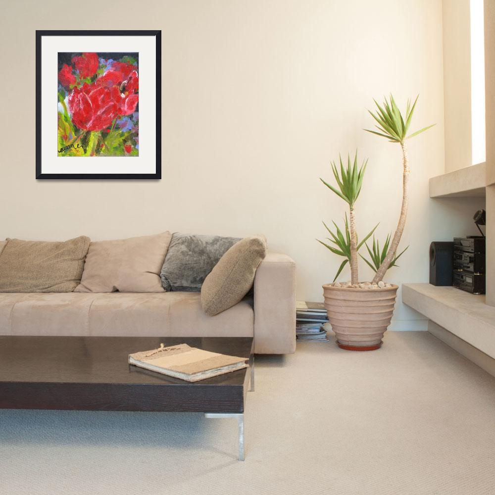 """""""Red Tulips&quot  (2013) by susanejones"""