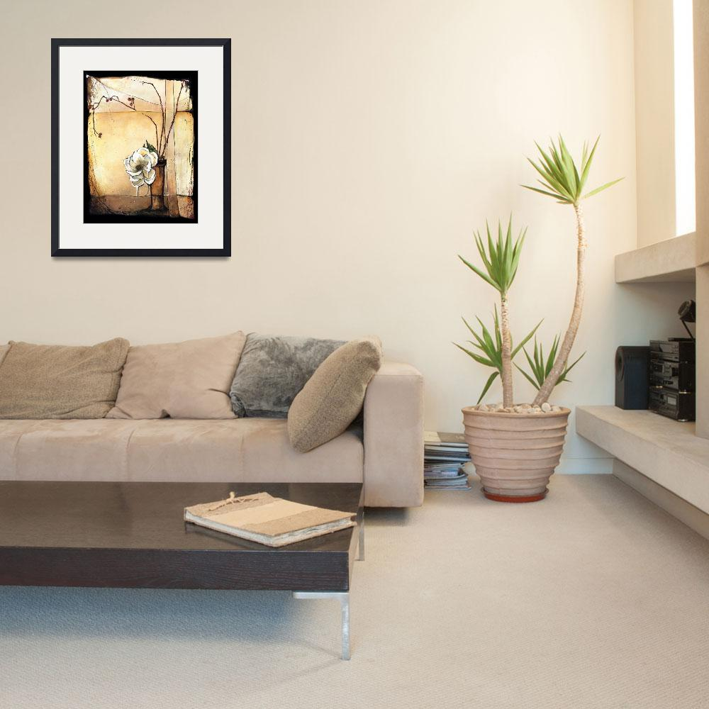 """""""Magnolia with Rose Hips - Ikebana&quot  by OpieSnowPrints"""