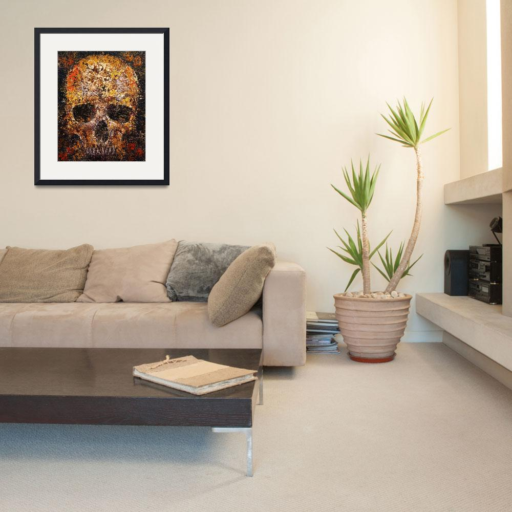 """""""Textured Skull""""  by creese"""