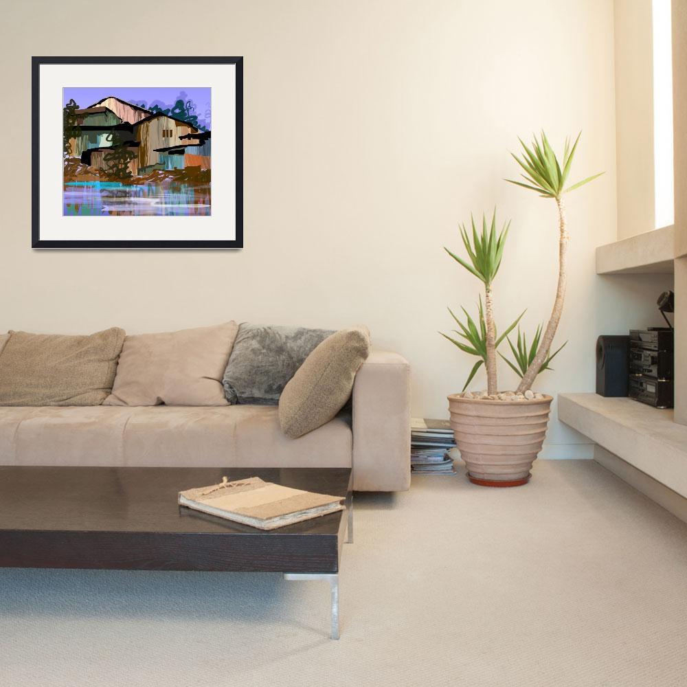 """""""Digital painting of house in colour background""""  (2009) by digitalpainting"""