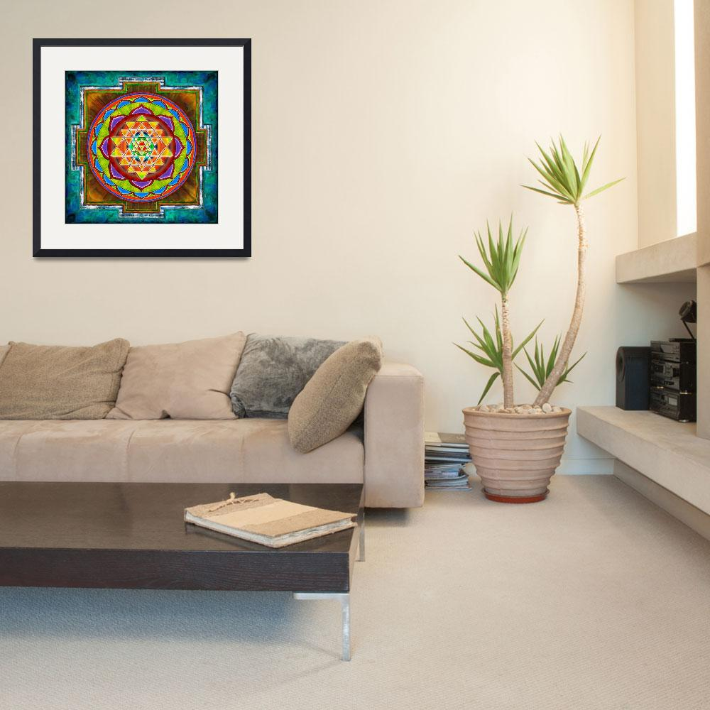 """""""Intuition Sri Yantra - Artwork 2&quot  by dcz"""