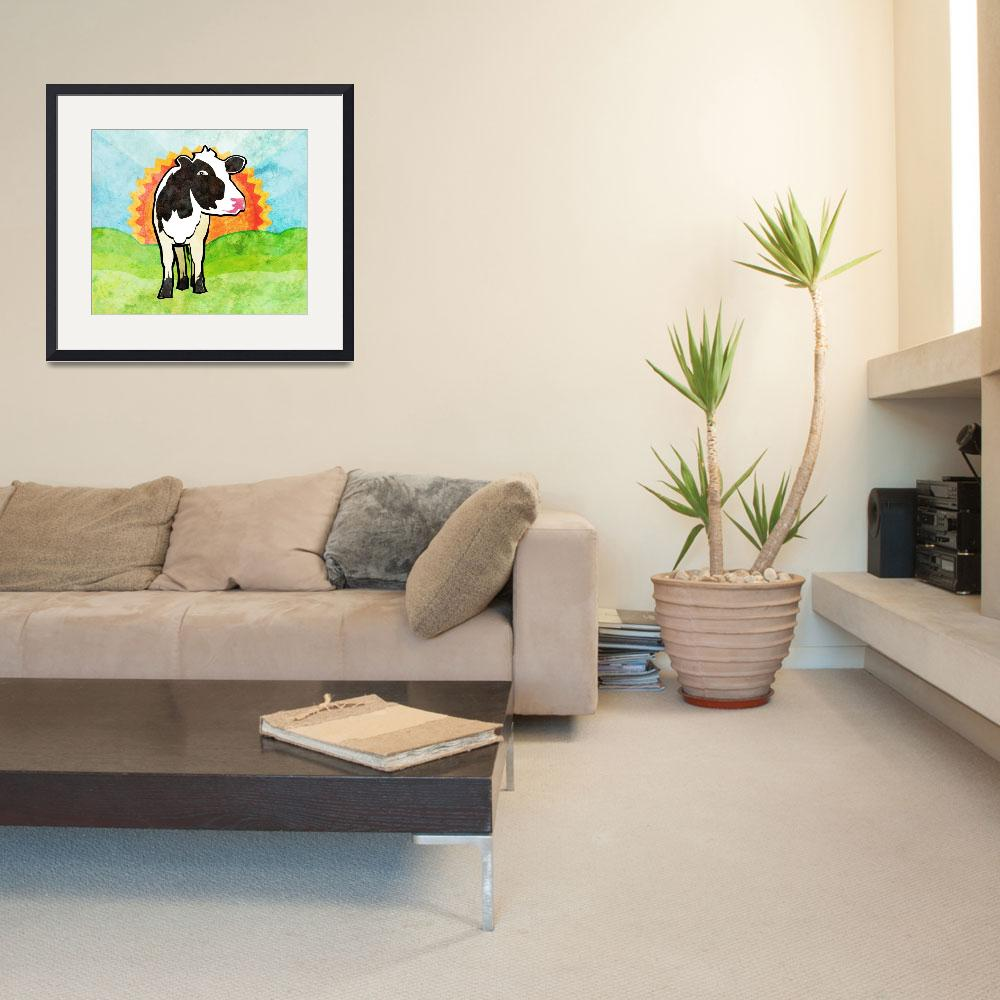 """""""Dairy Cow&quot  (2012) by maryostudio"""
