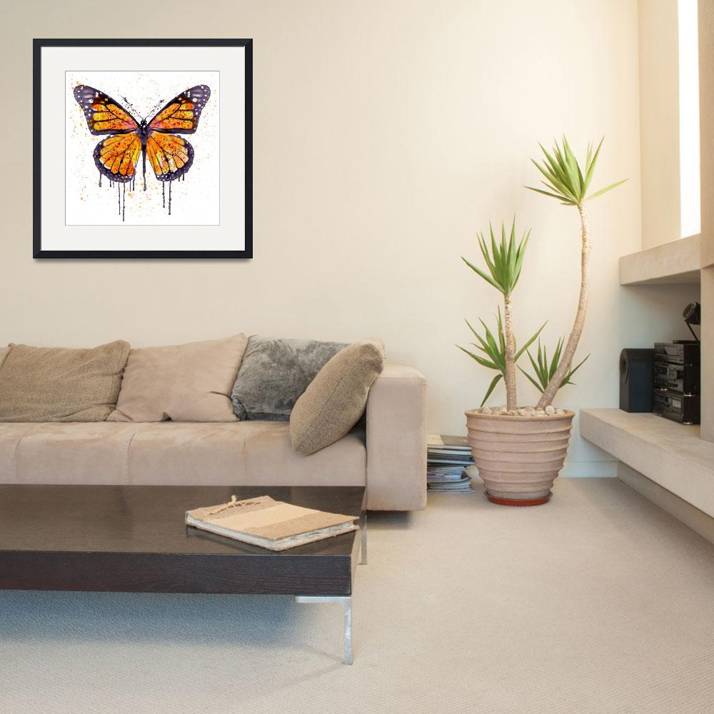 """""""Monarch Butterfly Watercolor&quot  (2015) by MarianVoicu"""