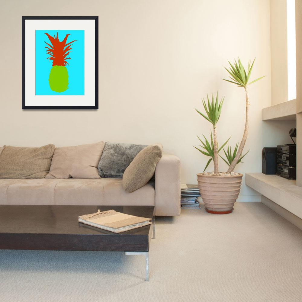 """""""Pineapple green red blue (c)&quot  (2014) by edmarion"""