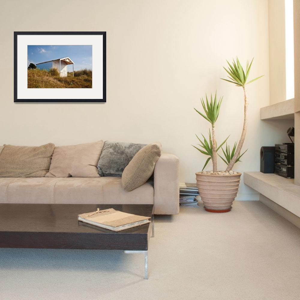 """""""A beach hut in the Marram Grass at Old Hunstanton&quot  (2010) by JohnEdwards"""