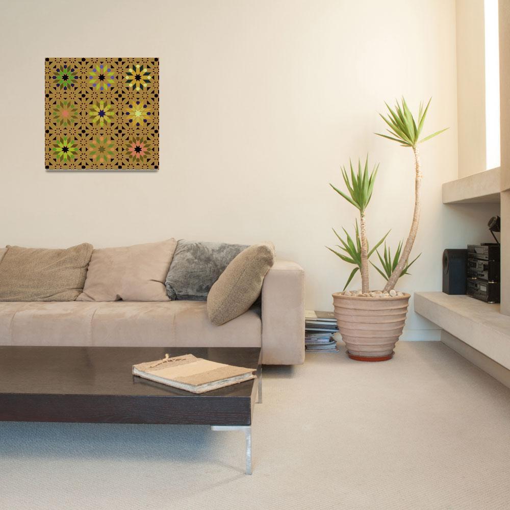 """Morocco bright gold green""  (2010) by LeslieTillmann"