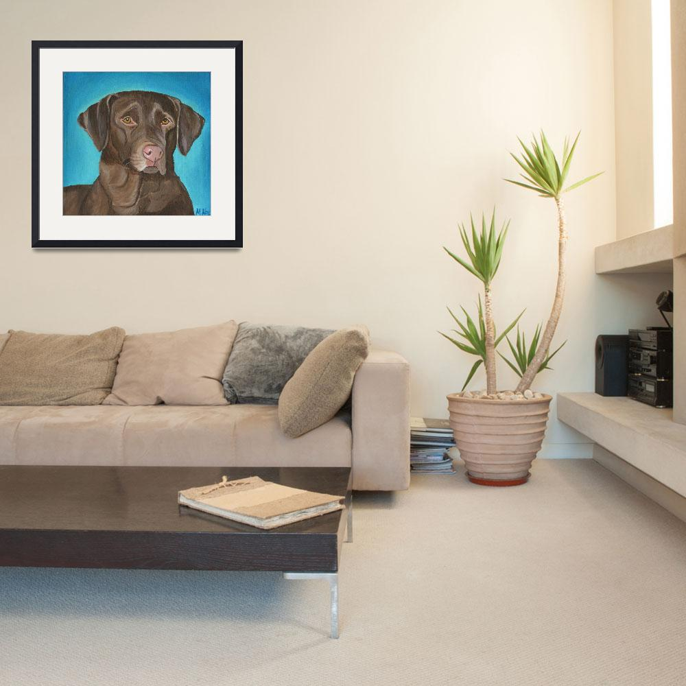 """""""Chocolate Lab&quot  by MichelleNoe"""