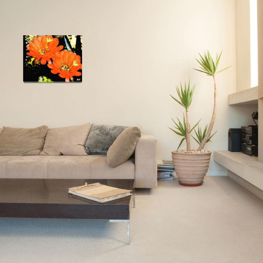 """""""ORANGE FLOWERS 2&quot  (2006) by AES"""