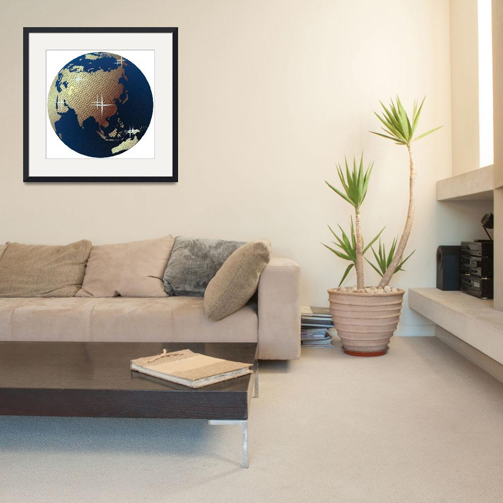 """""""Earth globe- disco ball with world map&quot  by lirch"""