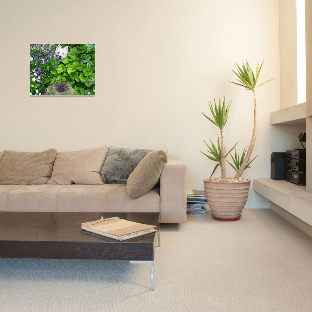"""Peeping Beni - Flower Garden&quot  by artsandi"