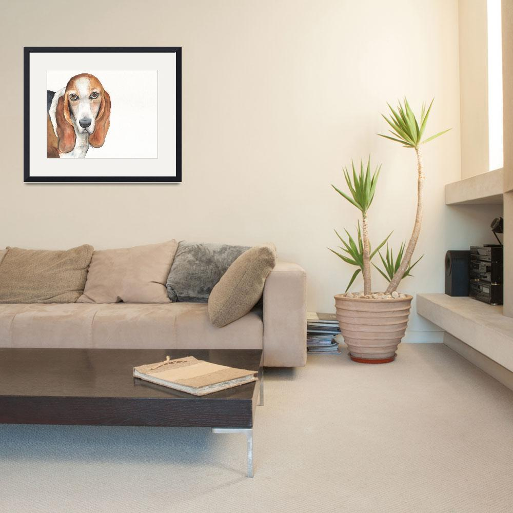 """""""Abby the Vocal Vaulting Basset""""  (2014) by Designomel"""