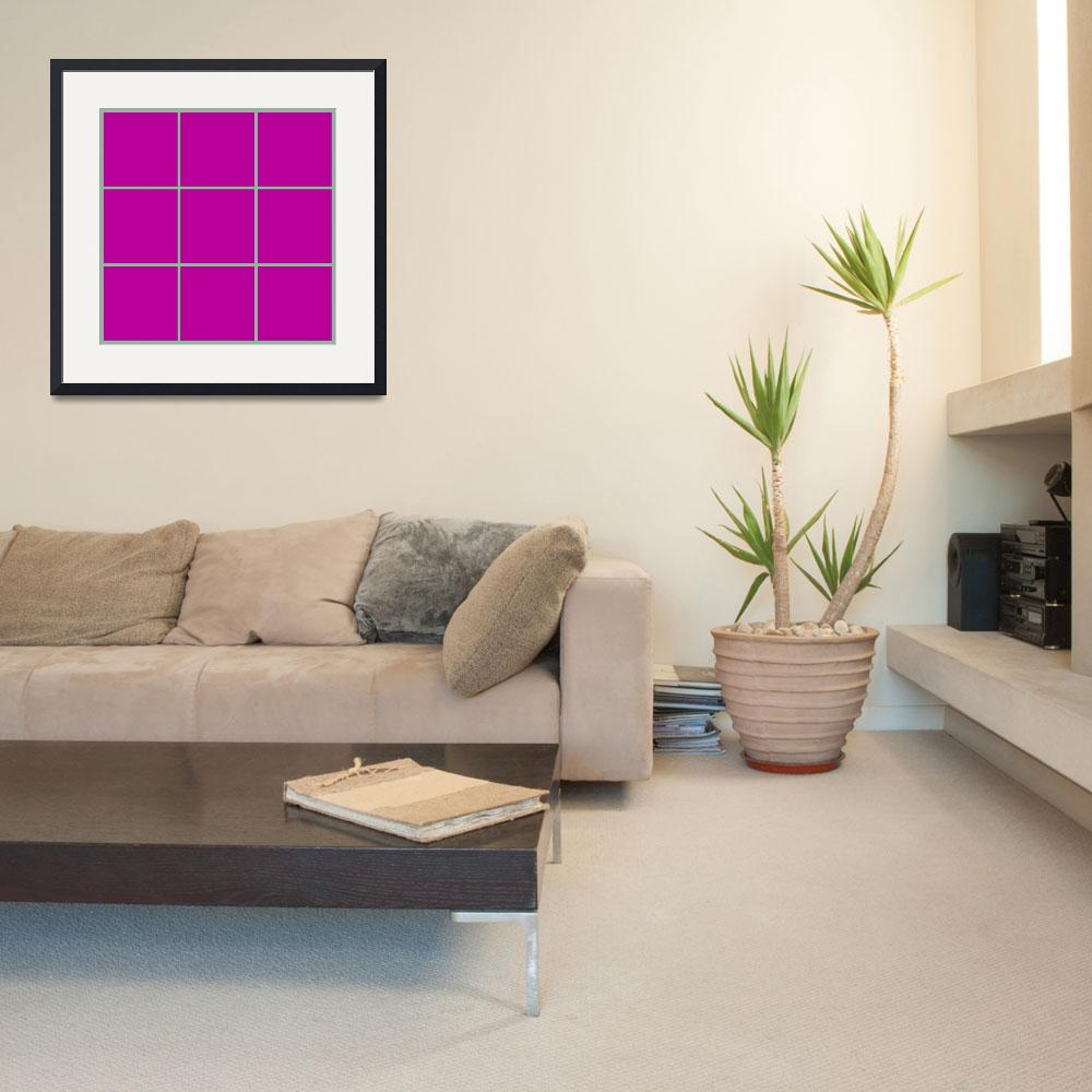 """""""Violet Window 186 Canvas Contemporary Modern&quot  (2010) by Ricardos"""