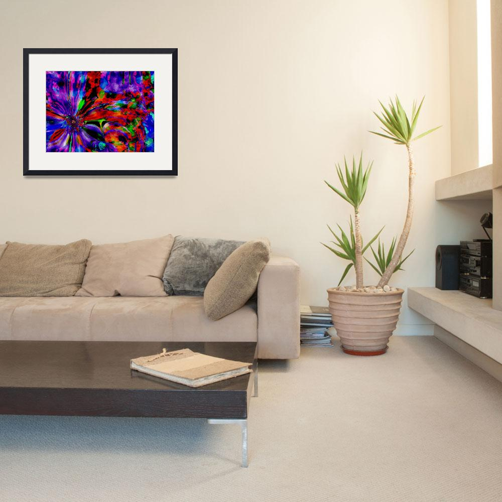 """""""purple flower overlay large&quot  (2008) by shanmaree"""