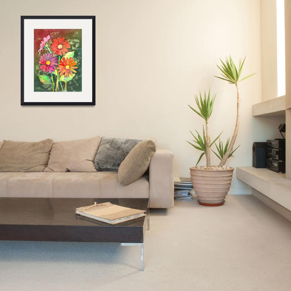 """""""Vibrant Flowers&quot  (2011) by awagner"""