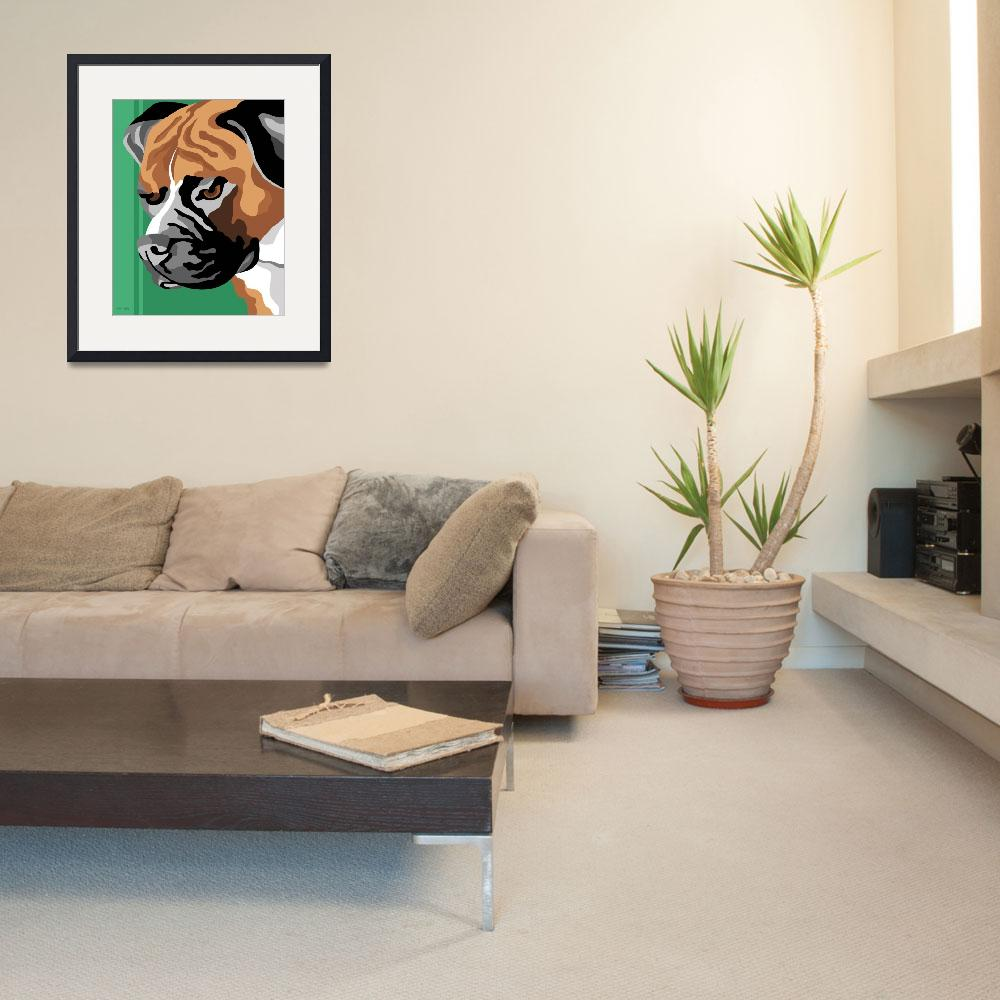 """""""Boxer Dog&quot  (2011) by waterart"""