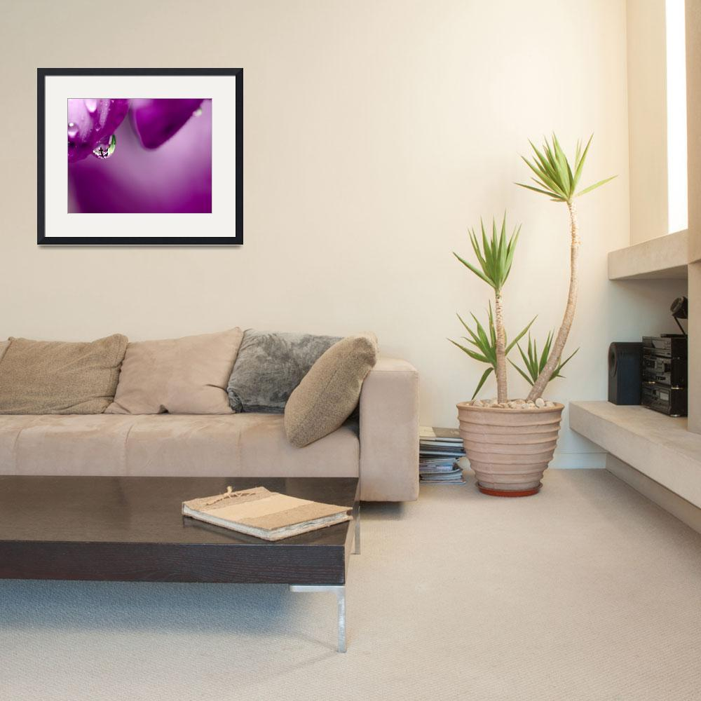 """""""The Cross in Reflective Purple Water Drop&quot  (2011) by LauraM"""