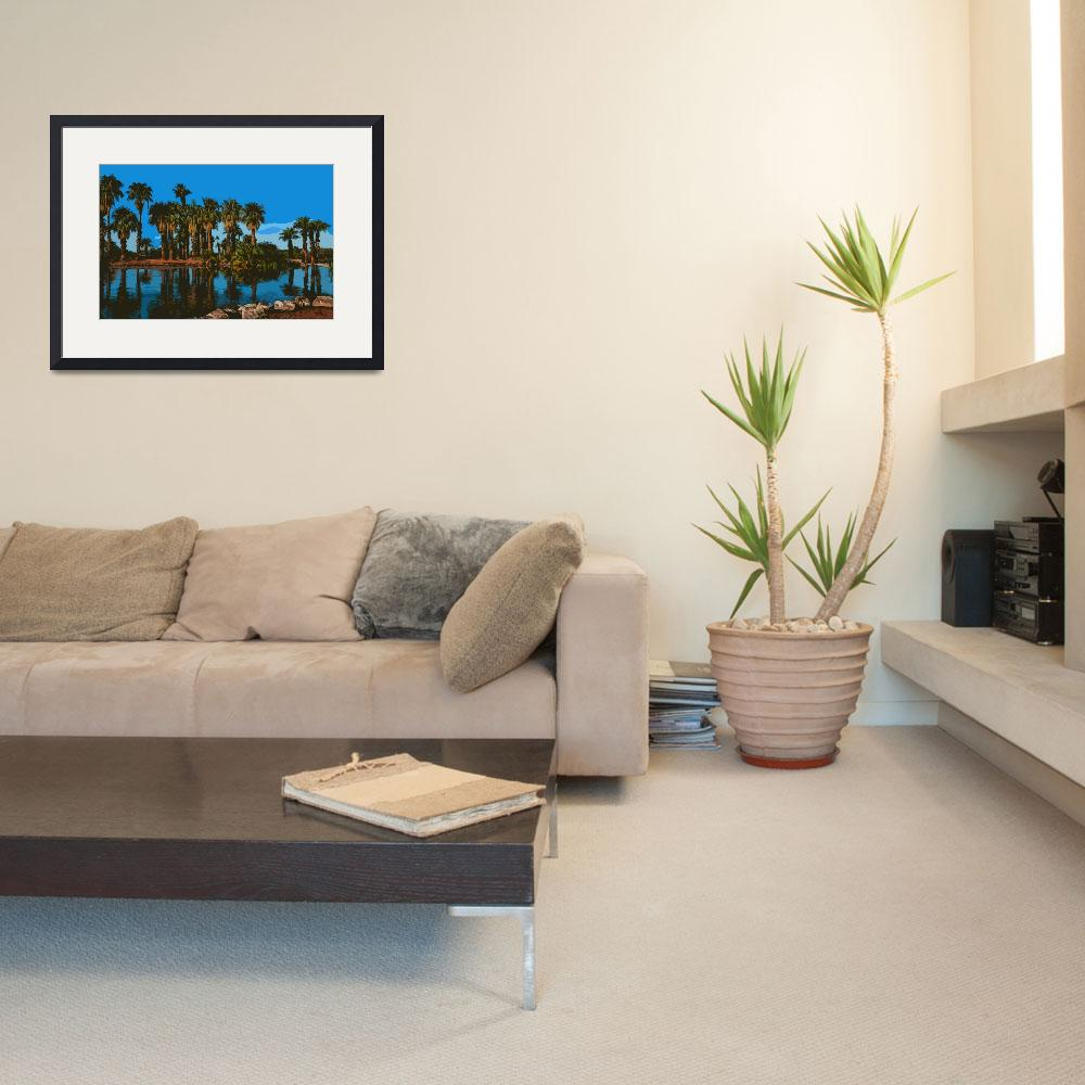"""""""Papago Park Palms&quot  (2015) by Kirtdtisdale"""