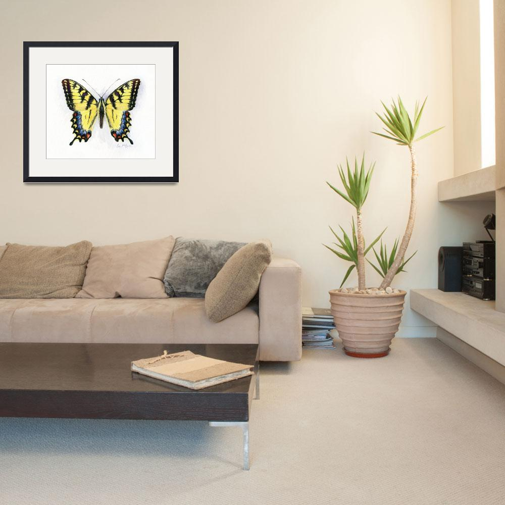 """""""western tiger swallowtail&quot  (2008) by LisaMclaughlin"""