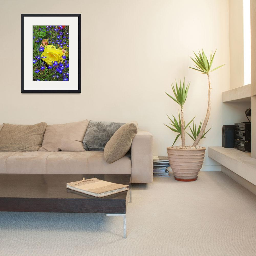 """""""yellow and Blue flowers&quot  by denzil47"""