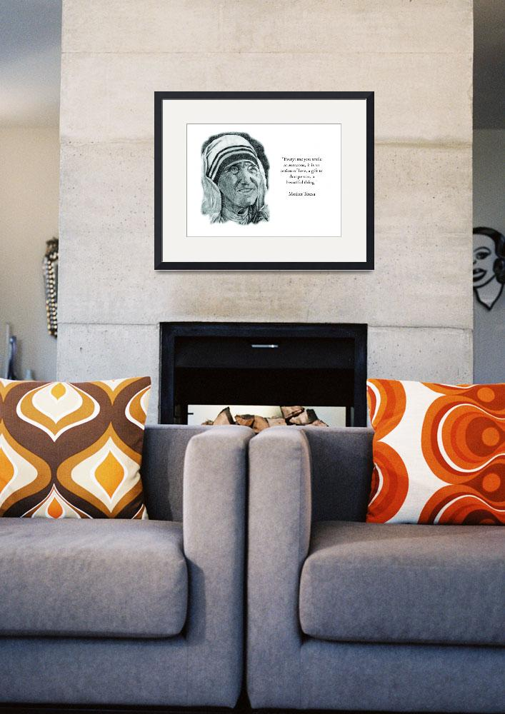 """""""Inspirational Portrait of Mother Teresa&quot  by CreativeArtisticNuance"""