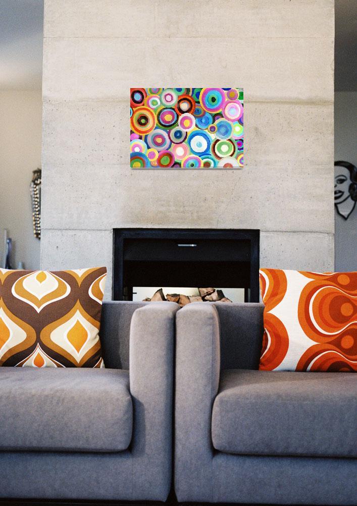 """Painted Circles""  (2010) by darrenwhittingham"