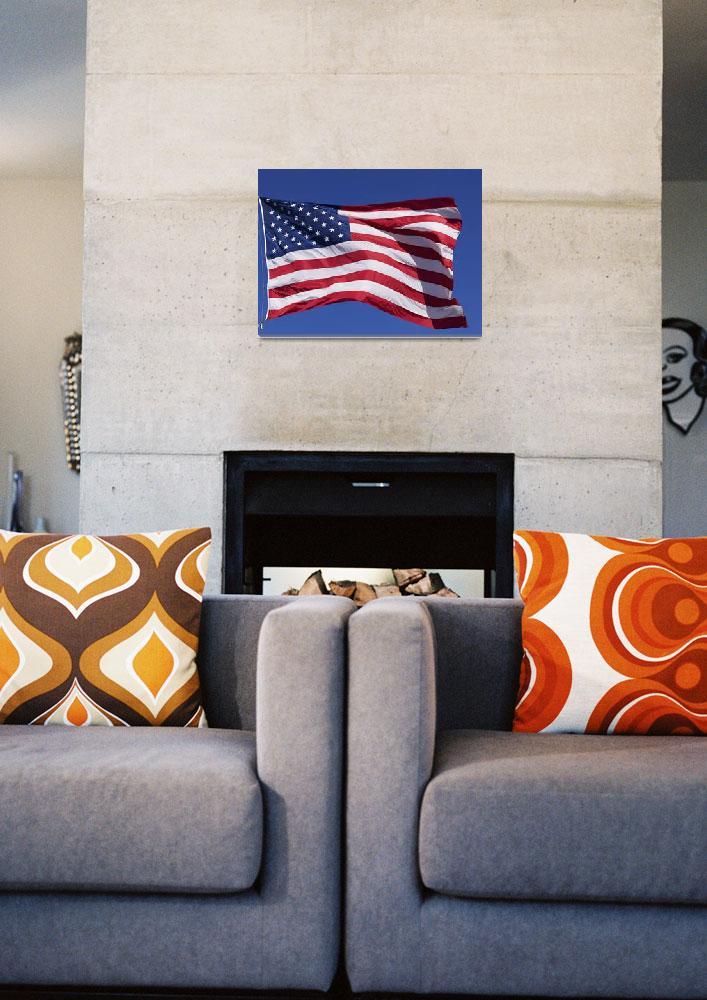 """American Flag, Pahreah, Utah, USA""  by DesignPics"