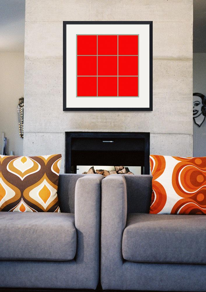 """""""Red Window 099 Canvas Contemporary Modern&quot  (2010) by Ricardos"""