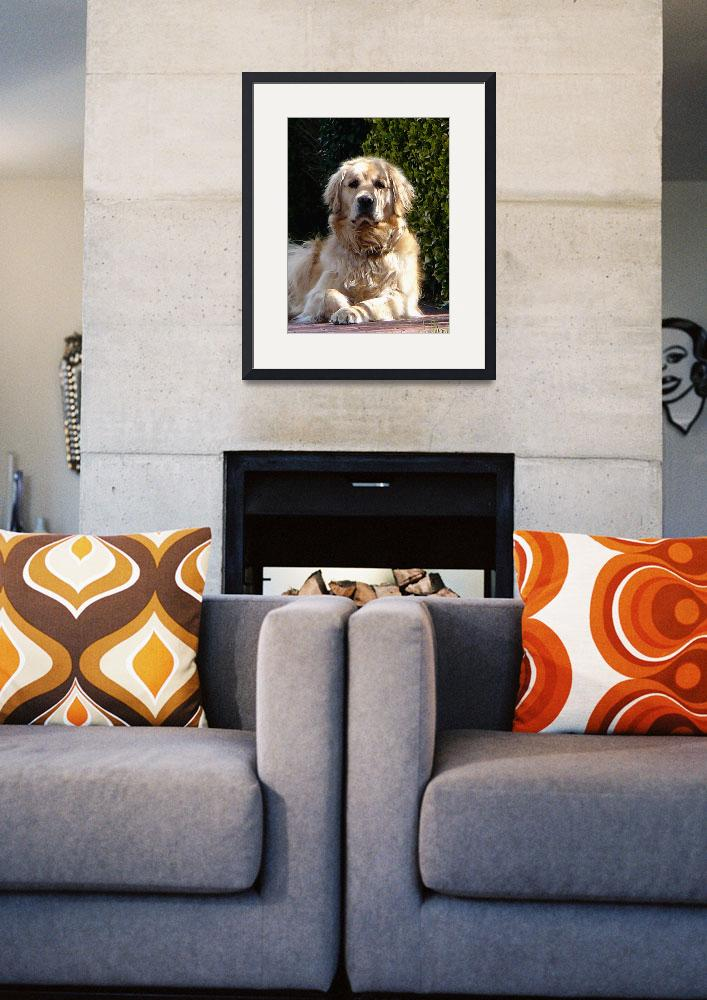 """""""Dog on Guard&quot  by susansartgallery"""
