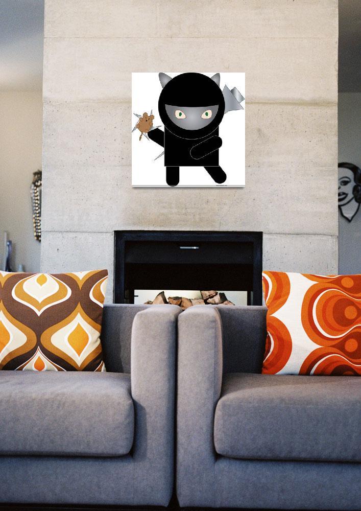 """Ninja Kitty""  (2009) by ValeriesGallery"