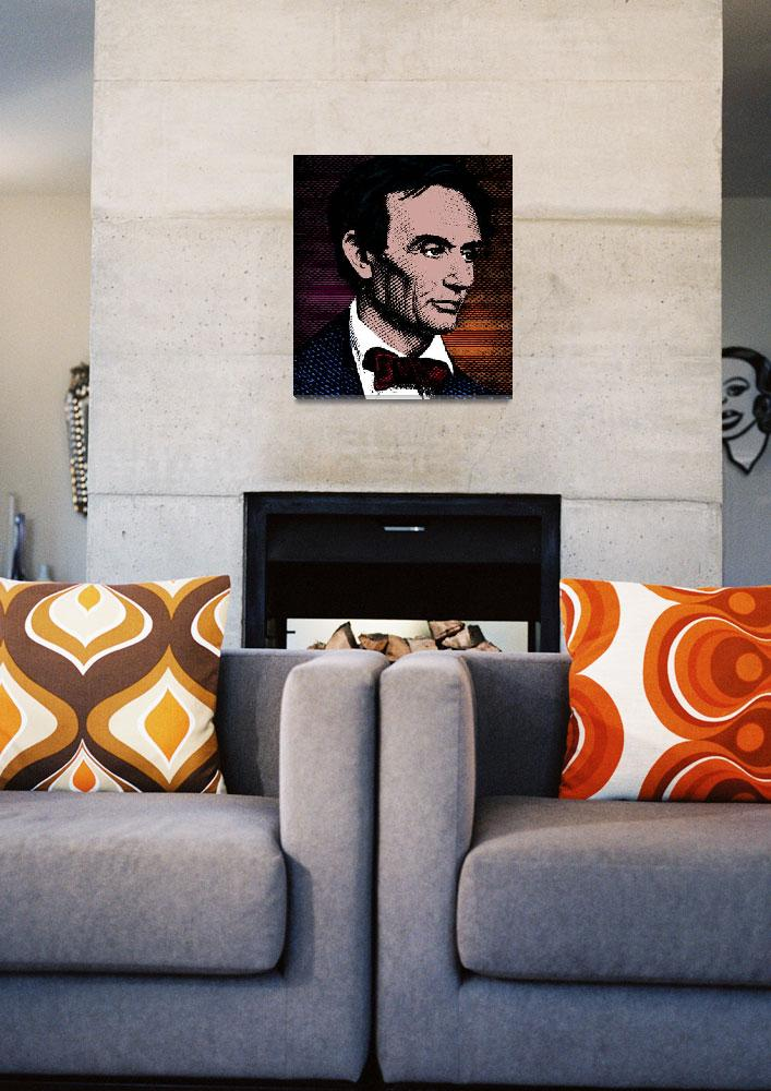 """Abraham Lincoln-color""  (2014) by thegriffinpassant"