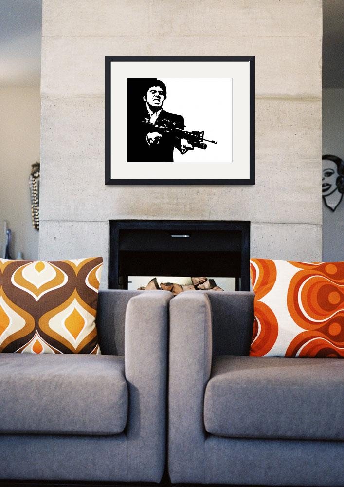 """""""SCARFACE CULT CLASSIC POP ART MOVIE POSTER""""  (2017) by imageworks"""