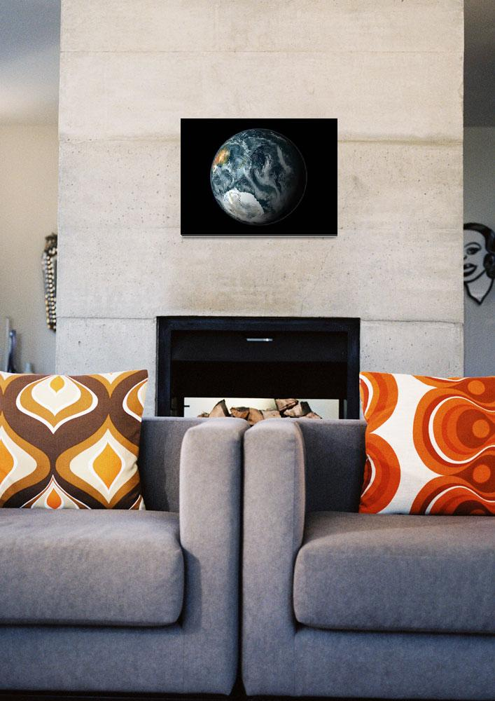 """""""Full view of the Earth highlighting Antarctica&quot  by stocktrekimages"""