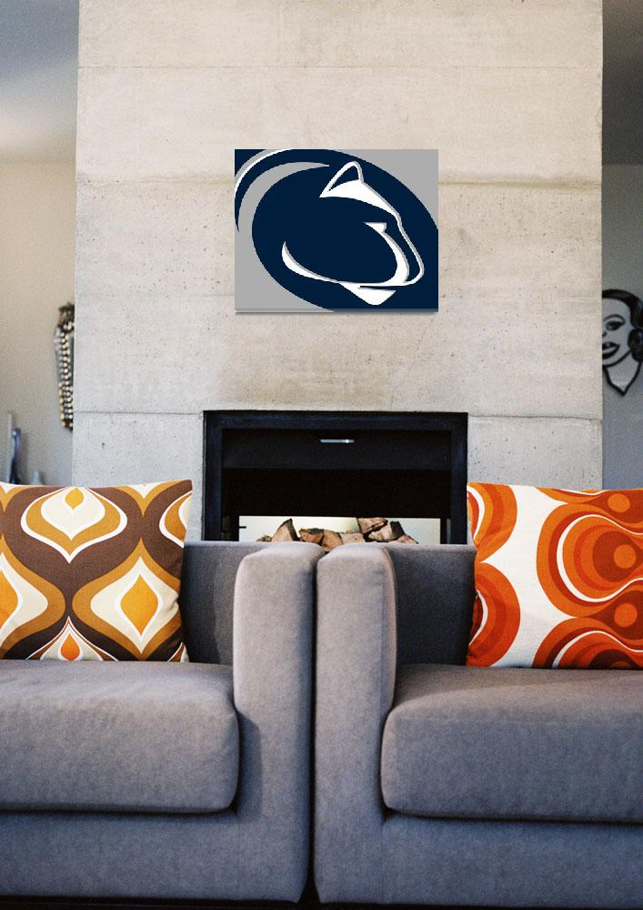 """""""Penn State Nittany Lions&quot  by RubinoFineArt"""