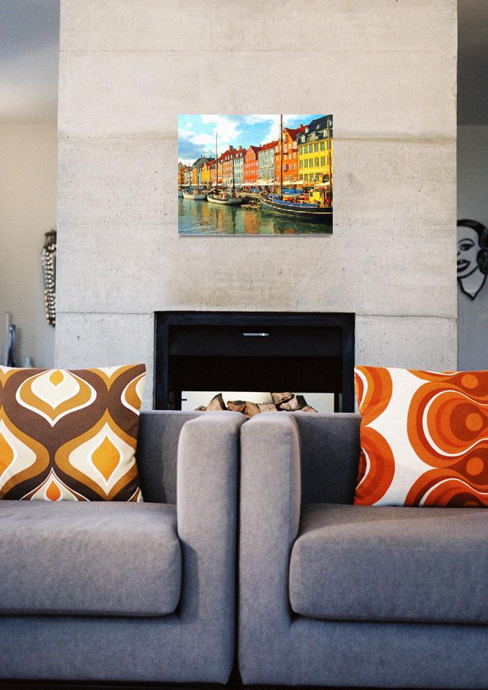 """""""Copenhagen Waterfront""""  (2015) by SafranFineArt"""