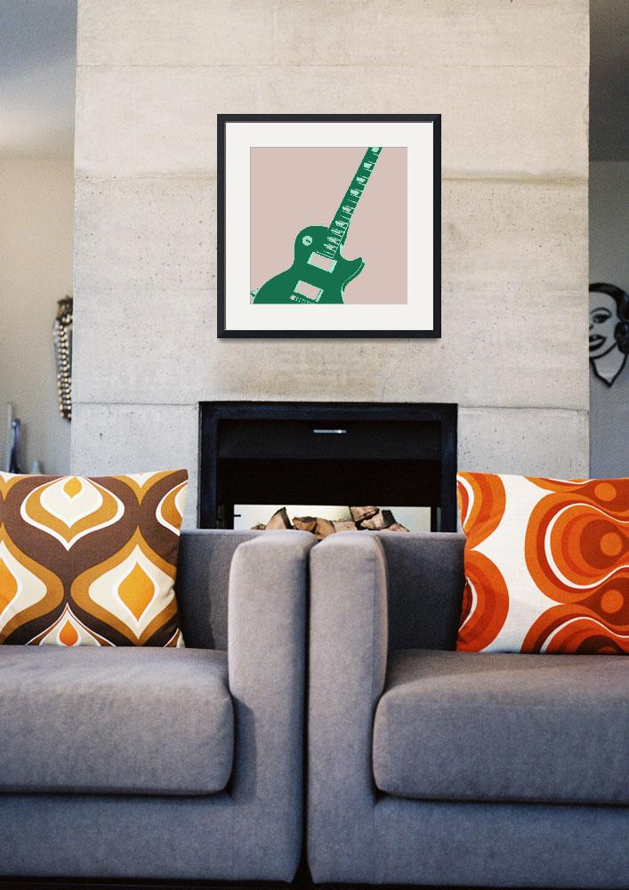 """""""Electric Guitar Pop Art&quot  (2011) by crazyabouthercats"""