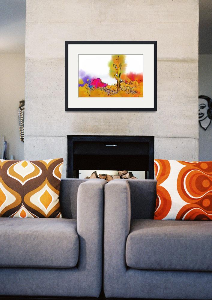 """""""Desert Saguaro In Subtle Abstract&quot  (2015) by Kirtdtisdale"""