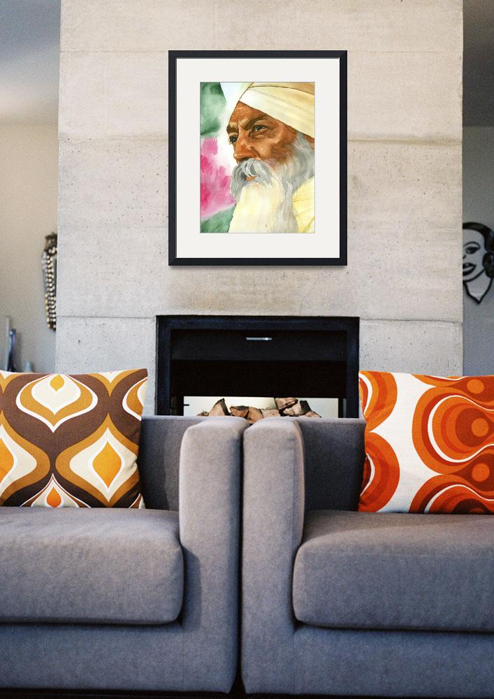 """Focused - Watercolor by Parmatma&quot  by SikhPhotos"