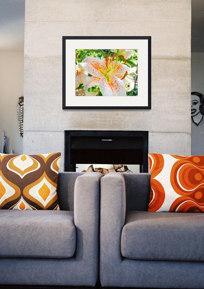 """""""Awesome Orange Lily Flowers Floral Garden art prin&quot  (2010) by BasleeTroutman"""