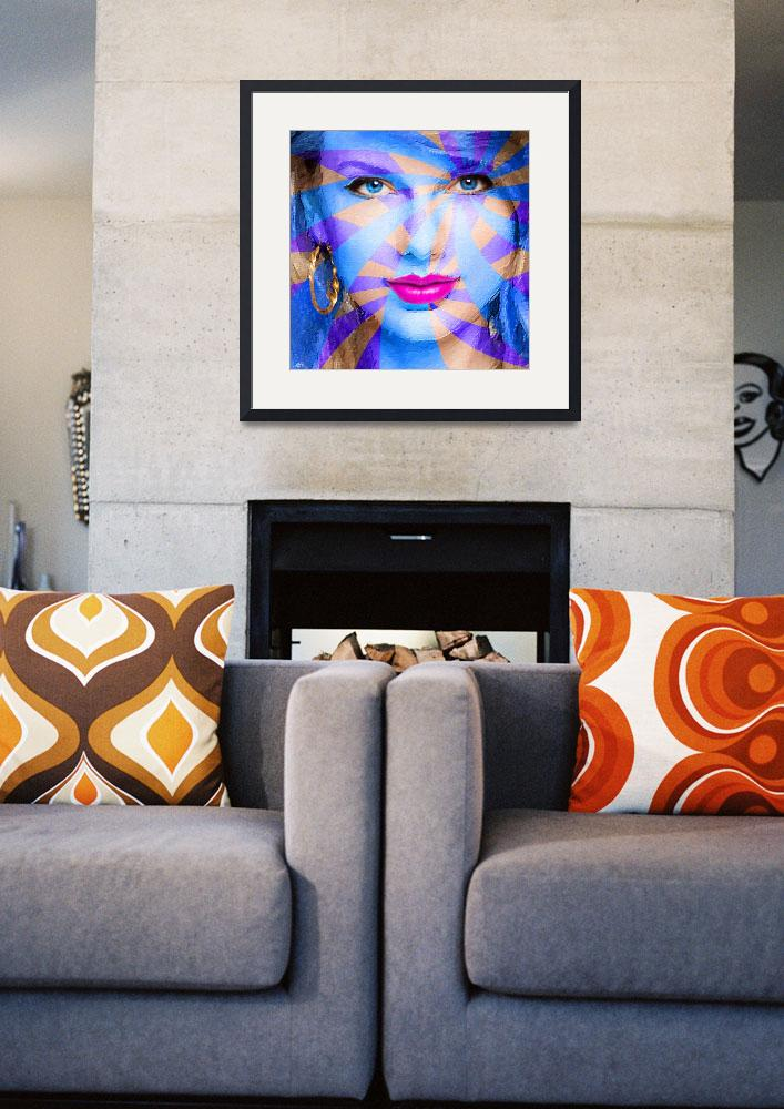 """""""Taylor Swift Blue Square&quot  (2015) by RubinoFineArt"""