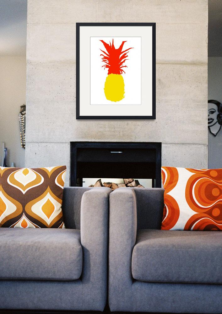 """Pineapple lemon yellow red white (c)&quot  (2014) by edmarion"