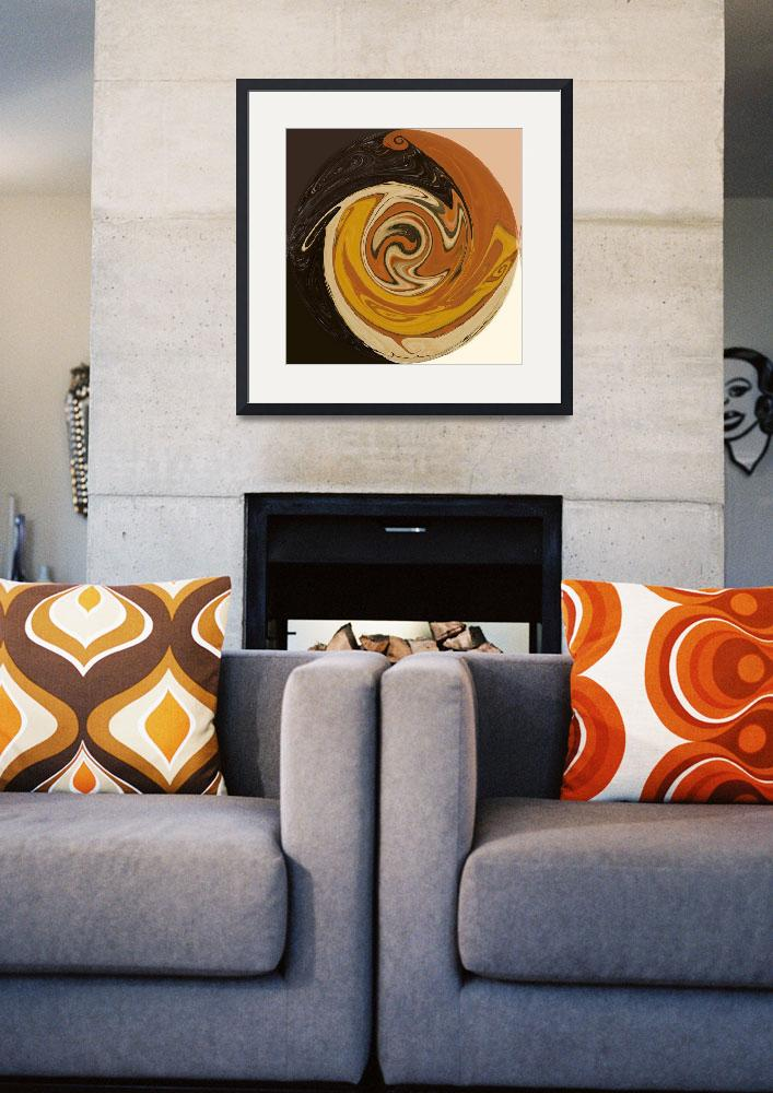 """""""Circle of Browns&quot  (2009) by abstractsbyalli"""