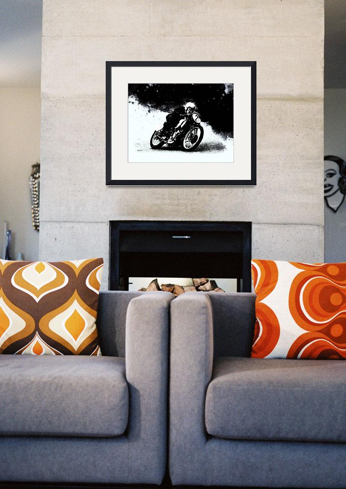 """""""The Vintage Motorcycle Racer&quot  (2016) by mark-rogan"""