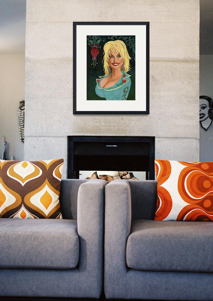 """""""Portrait of Dolly Parton&quot  (2009) by 14"""