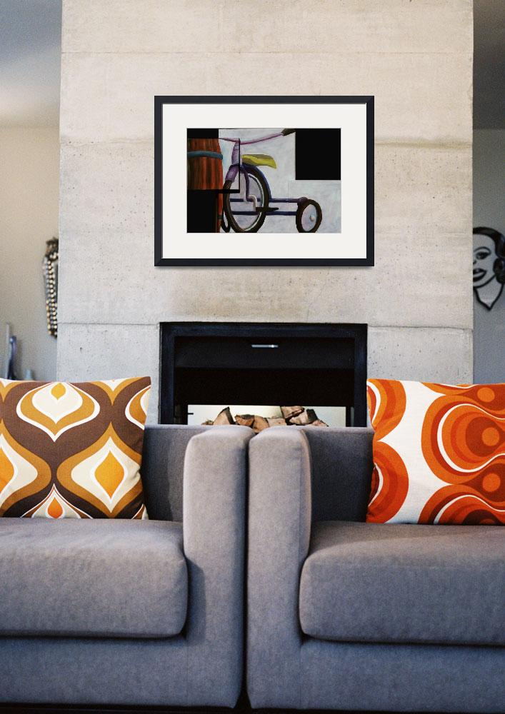 """""Trike and Barrel"" original acrylic painting&quot  (2007) by marnold"